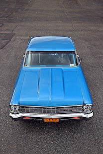 1967 Pro Street Nova Twin Turbo Blue 026