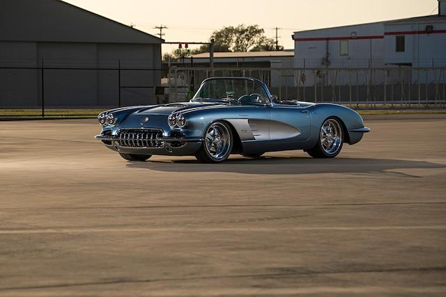 1959 Corvette C1 Ls Frost Blue Metallic Paint 005