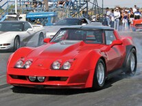 Vemp 0904 Pl 1982 Chevrolet Corvette Drag Racing