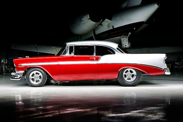 1956 Pro Street Chevy Red White Two Tone 001