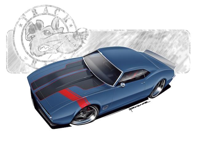 Camp 0810 01 1968 Chevy Camaro Project Car Camaro Rendering