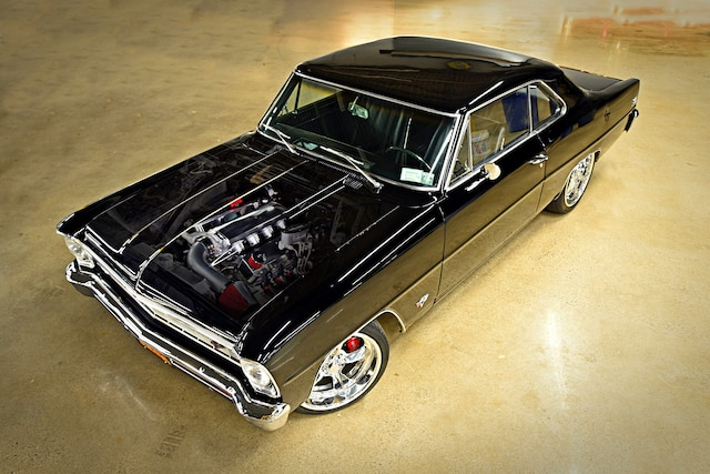 001 1967 Nova Black LS Wilwood Pro Touring G Machine Chassisworks