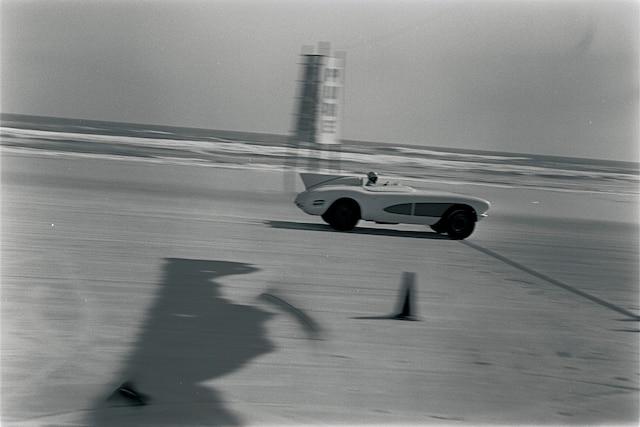 001 Archive 1956 Daytona Speedweeks Duntov 1956 Chevrolet Corvette Finish Line