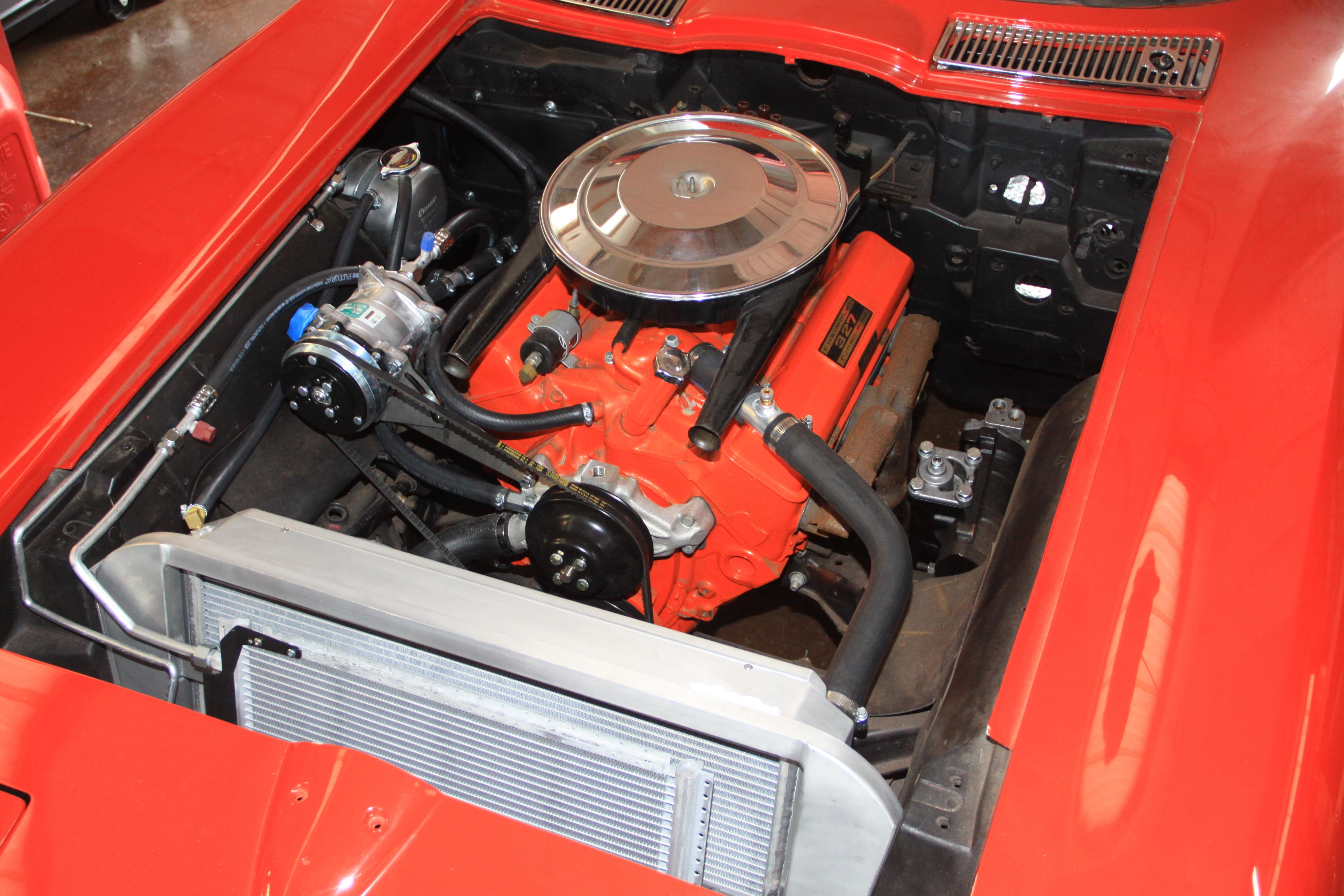 NOS 63 64 65 VETTE RADIATOR CORE UPPER SUPPORT BRACKET rounded edges