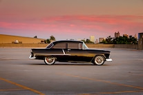 004 1955 Chevy Woodys Giveaway Raffle TMI Black Red LS Holley