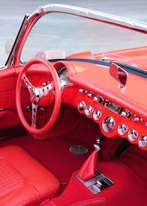 6 1957 Chevrolet Corvette Interior Dash