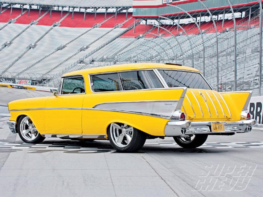 1957 Chevy Nomad Custom Tri Five Wagon Restomod Super Chevy Magazine