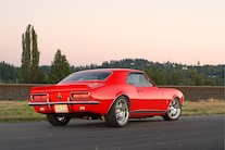 1967 Camaro Red Rear View