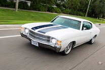 1971 Chevelle Ls White Pro Touring Driving