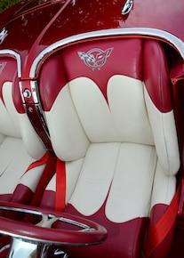 1961 Chevrolet Corvette Red White Seats