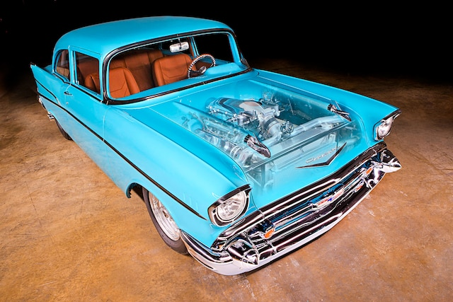 A twin-turbo 1957 Chevy that brings refinement to Pro Street