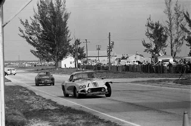 1962 Chevy Corvette Archival Racing Photo