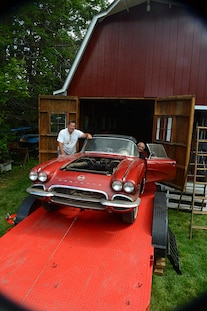 1962 Corvette Fuel Injected Barn Find 029