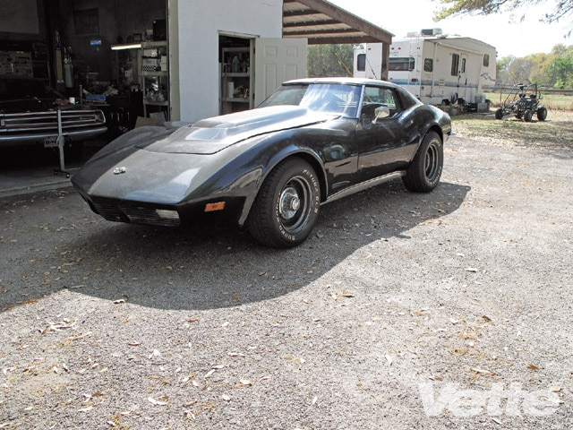 Vemp_0910_02_z 1971_chevy_corvette_stingray_project_car Front_left