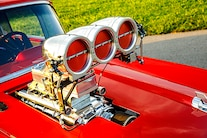 046 1957 Chevy Bel Air Pro Street Red Blown Injected