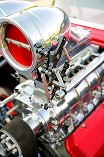 018 1957 Chevy Bel Air Pro Street Red Blown Injected