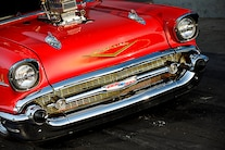 005 1957 Chevy Bel Air Pro Street Red Blown Injected