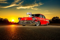 003 1957 Chevy Bel Air Pro Street Red Blown Injected