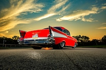 002 1957 Chevy Bel Air Pro Street Red Blown Injected