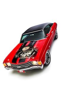 004 1972 Chevelle Red Elegance Mark Lopez FiTech Eddie Motorsports Billet Forgeline Big Block Don Lee Auto