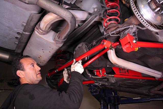 1999 Camaro BMR Suspension Install Torque Arm 001