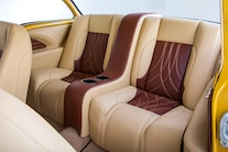 030 1956 TMI Chevy Gold SEMA Custom Interior Fitech