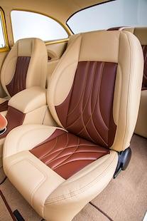 029 1956 TMI Chevy Gold SEMA Custom Interior Fitech