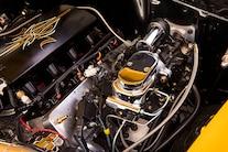 019 1956 TMI Chevy Gold SEMA Custom Interior Fitech