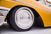 010 1956 TMI Chevy Gold SEMA Custom Interior Fitech