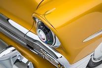 008 1956 TMI Chevy Gold SEMA Custom Interior Fitech