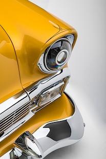 007 1956 TMI Chevy Gold SEMA Custom Interior Fitech