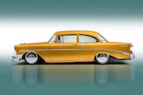 003 1956 TMI Chevy Gold SEMA Custom Interior Fitech