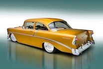 002 1956 TMI Chevy Gold SEMA Custom Interior Fitech
