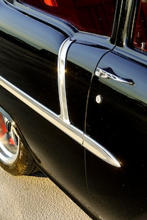 010 1955 Chevy Woodys Giveaway Raffle TMI Black Red LS Holley