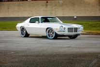 055 1970 Camaro DSE Pro Touring White Blue LS Supercharged Blower Wilwood