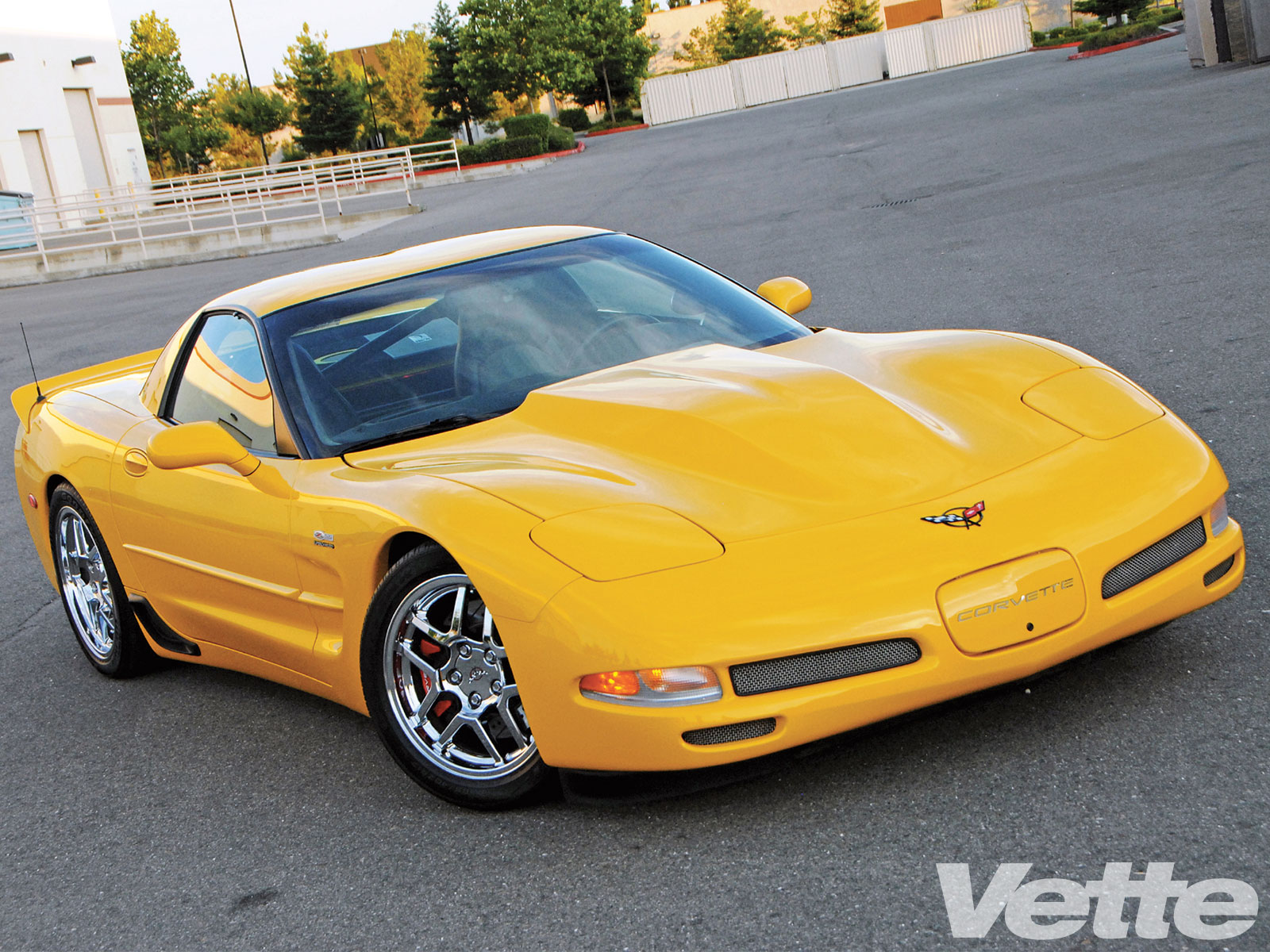 Vemp 1001 03 O Supercharged 2002 Chevrolet Corvette Full Body View