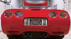 Sucp 0801 01 Pl 1999 Corvette Exhaust System Rear View