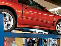 0808gmhtp 01 Pl 2002 Pontiac Trans Am Control Arms Suspension Under Car Welding