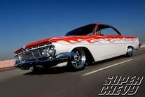 Sucp 1006 13  1961 Chevy Impala Cruising Front Angle