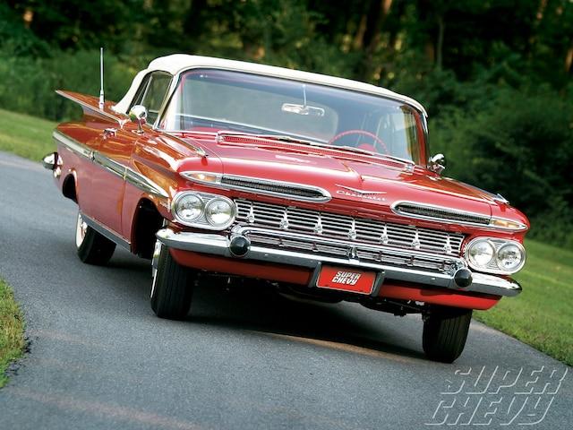 Sucp 1102 01 O Scott Chalk 1959 Chevrolet Impala Convertible Front View