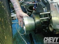 1111chp 04 O  Eddie Motorsports S Drive Serpentine Kit Install Inside Engine Bay