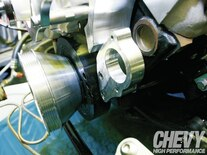 1111chp 10 O  Eddie Motorsports S Drive Serpentine Kit Install Power Steering Bracket