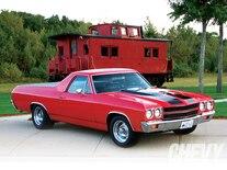 1007chp 09 O 1970 Chevrolet El Camino Front Passenger Side