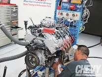 1202chp 04 O  Rhs Head Swap Engine Being Worked On
