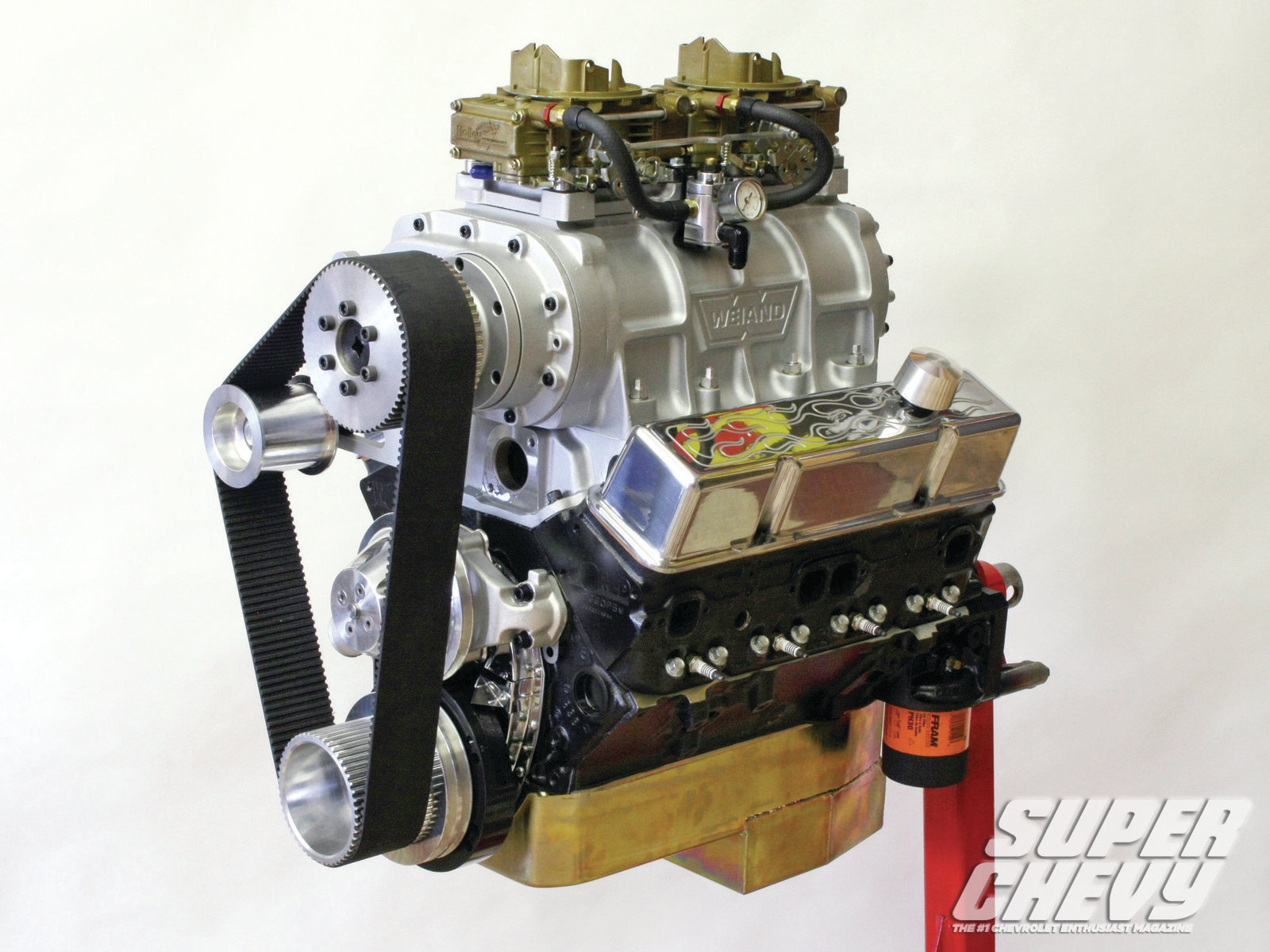 Sucp 1204 01 Supercharged Chevy Small Block 383 Holley