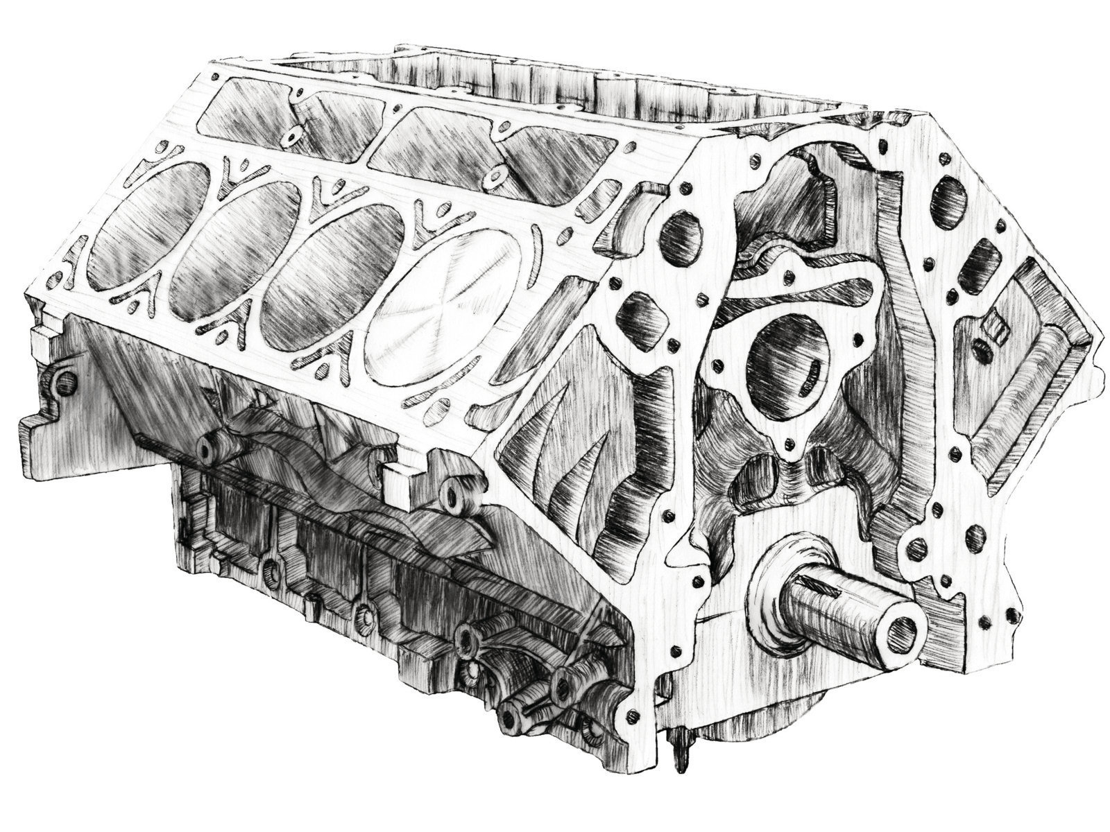 1208chp 02 O  August 2012 Chevy High Performance Qa Engine