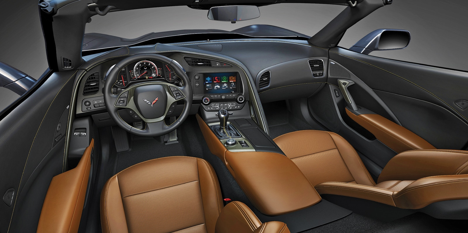 2014 Chevy Corvette C7 Stingray Interior Dash View