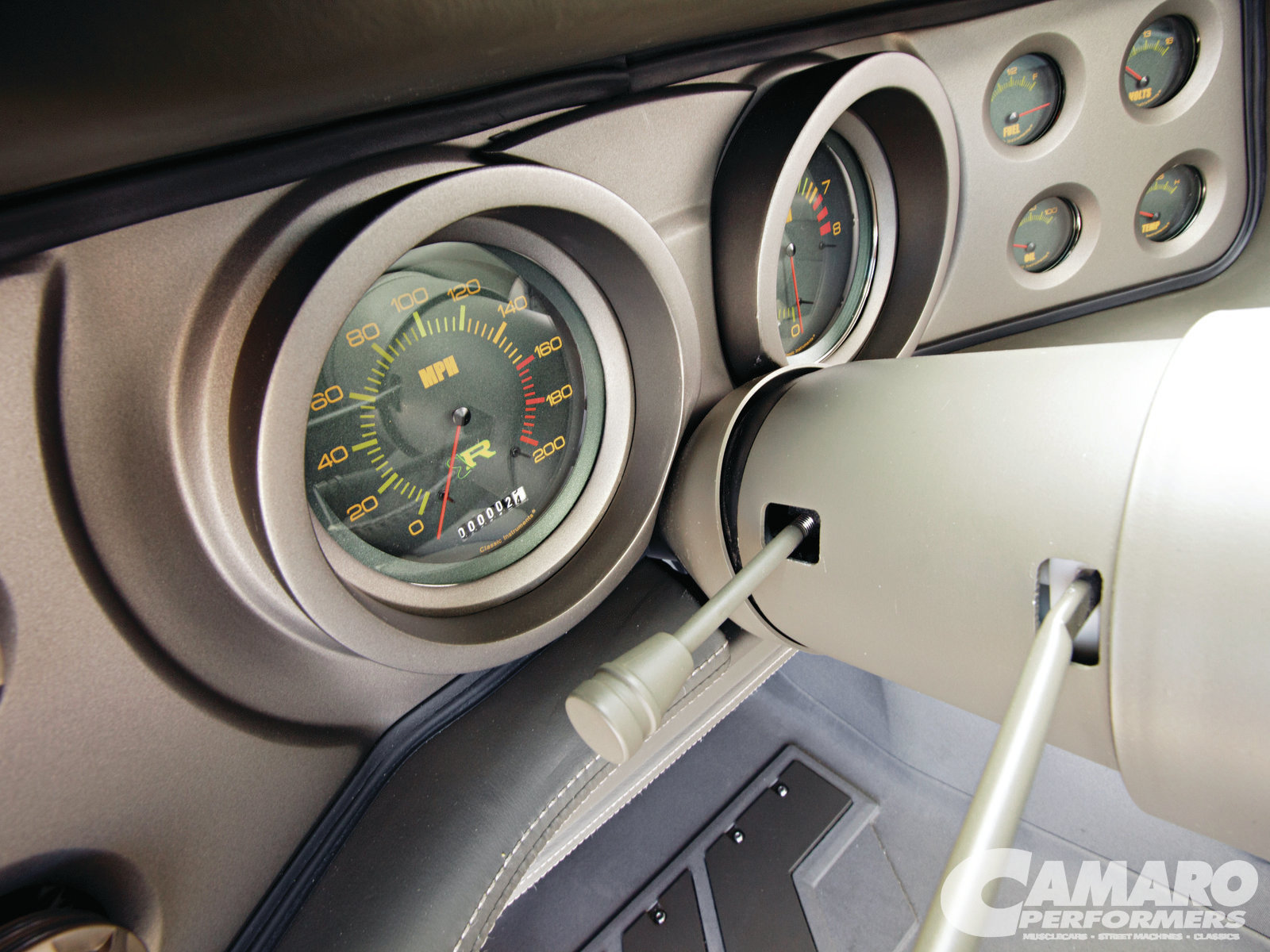 Camp 2110 09 1970 Chevrolet Camaro Instrument Gauge