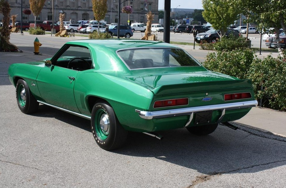 1969 Chevrolet Camaro Copo Green Rear 3 Quarter Driver Side