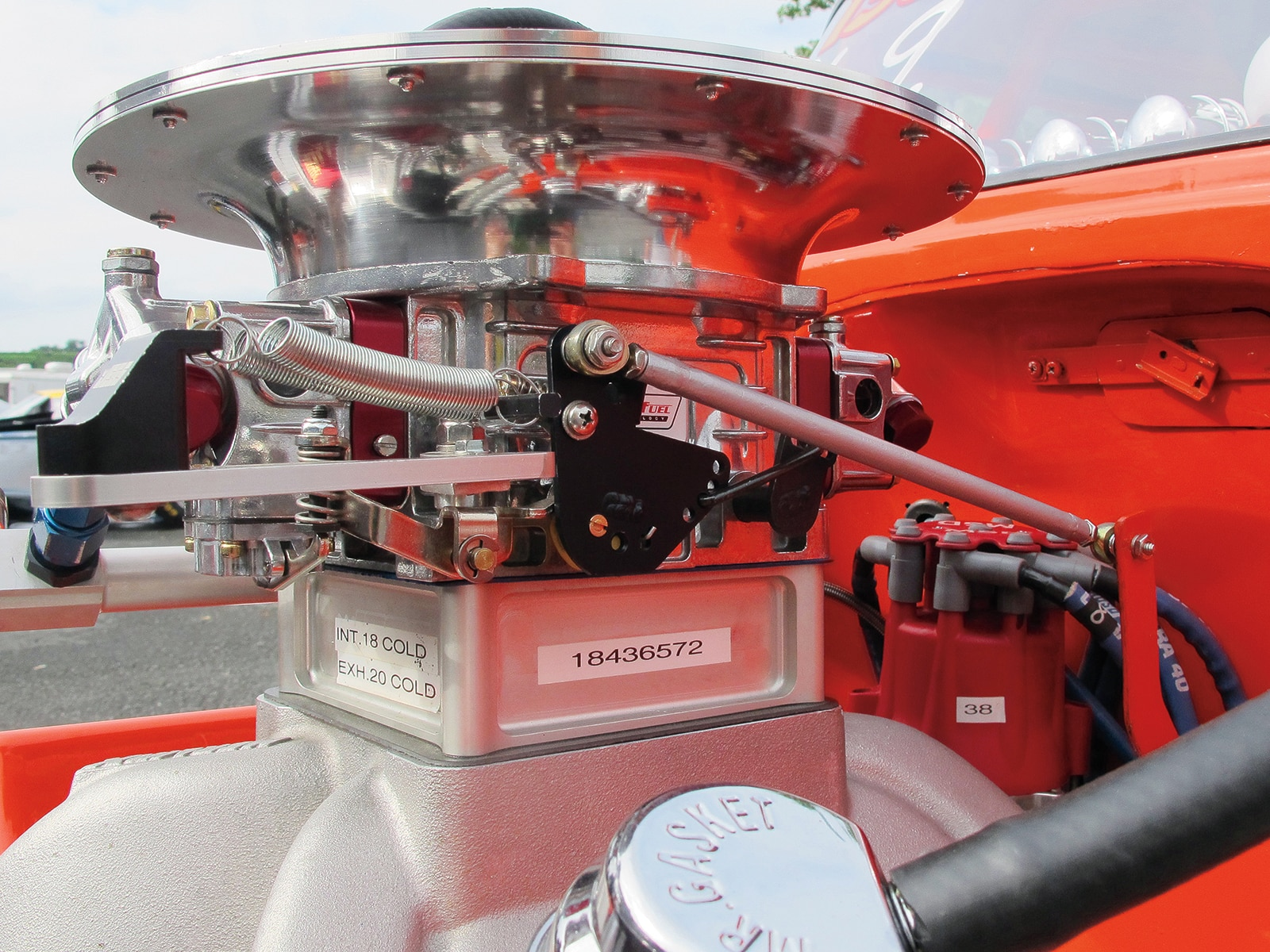 1955 Chevrolet 210 Engine Closeup